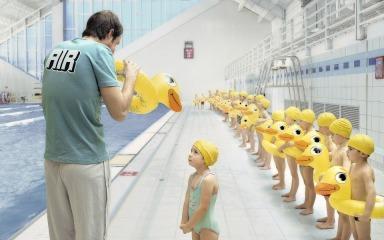 Primeras clases aprendiendo a nadar