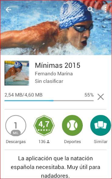 Aplicación para moviles MINIMAS-2015