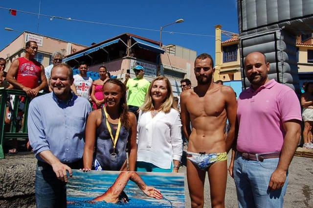 Veronica Navarro y Airam Carretero. Vencedores de Travesía La Laja - San Cristobal (LPGC)