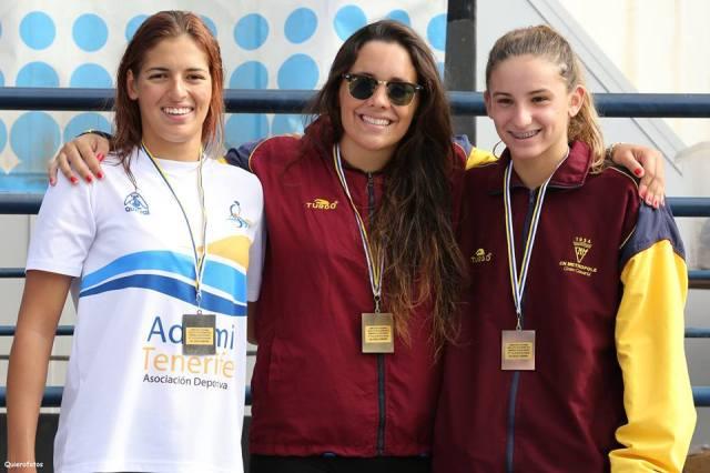 podium 100m Femenino