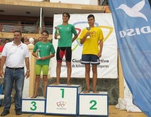"podium Travesía a nado Salinetas 2017 ""Dolores Álvarez"""